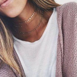 Dainty 3 Layered Choker Necklace Set